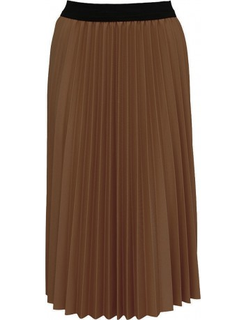 Dlouhá plisovaná jednobarevná sukně