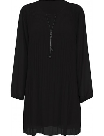 Šaty plisované plus řetízek