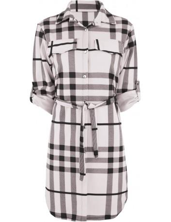 Kostkované košilové šaty