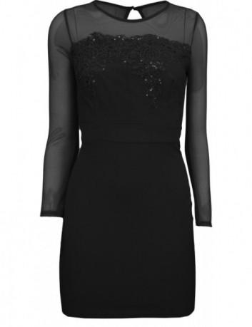 Černé šaty s krajkou