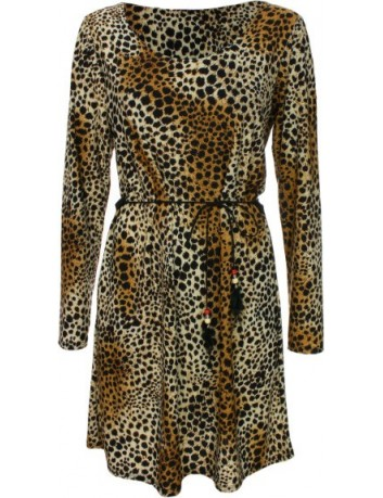 Šaty s leopardím vzorem