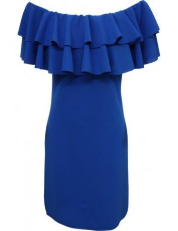 Pouzdrové šaty modré