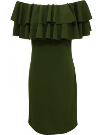 Pouzdrové šaty zelené