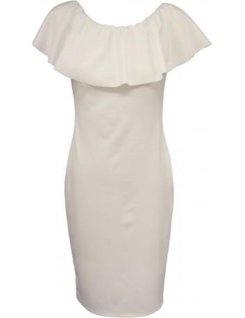 Pouzdrové šaty bílé
